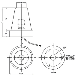 Revolving Lamps Dimensional Diagram